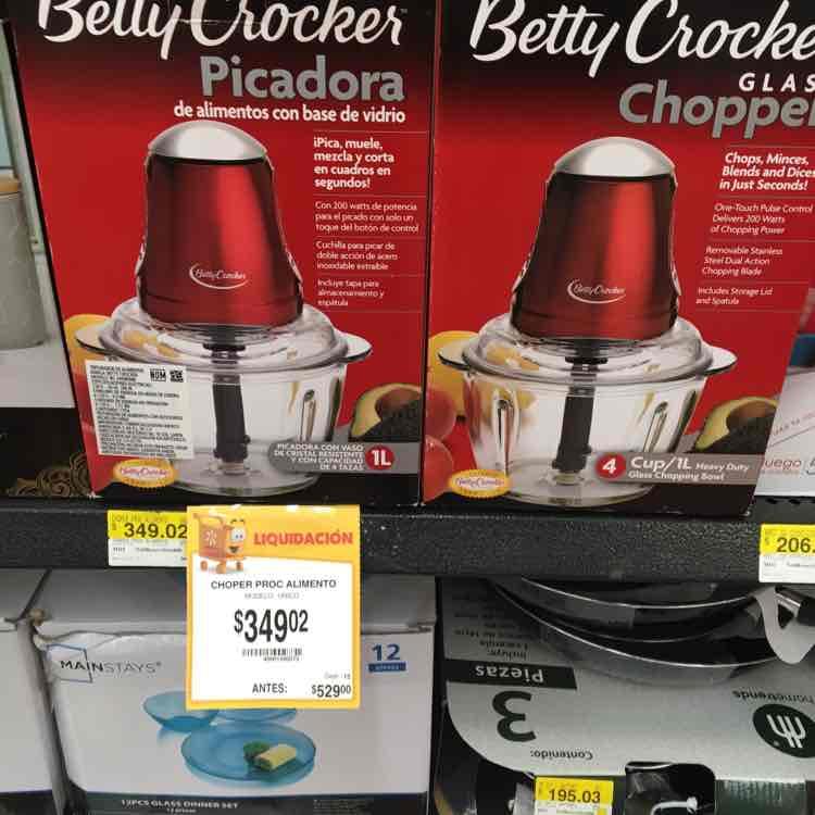 Walmart Perisur (CDMX): picadora Betty Crocker de $529 a $349.02