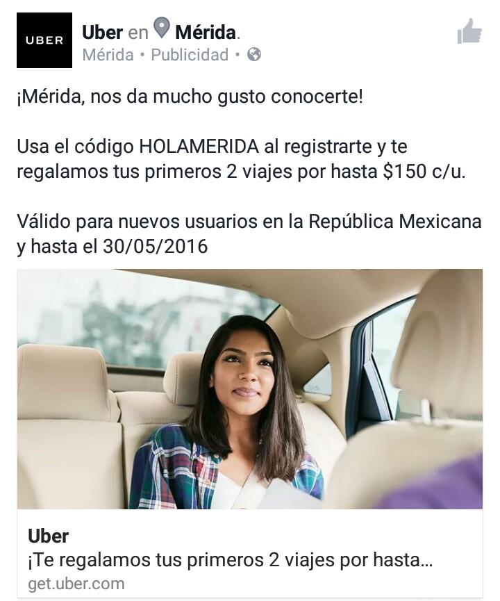 Uber: dos viajes por hasta 150 c/u CLIENTES NUEVOS