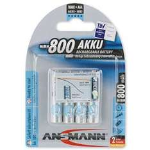 Amazon MX: pilas Ansmann 1x4 800mAh - Micro / AAA NimH