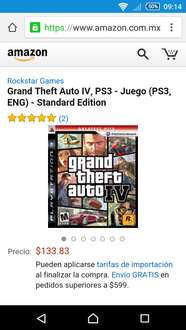 Amazon: GTA IV PS3 a $133
