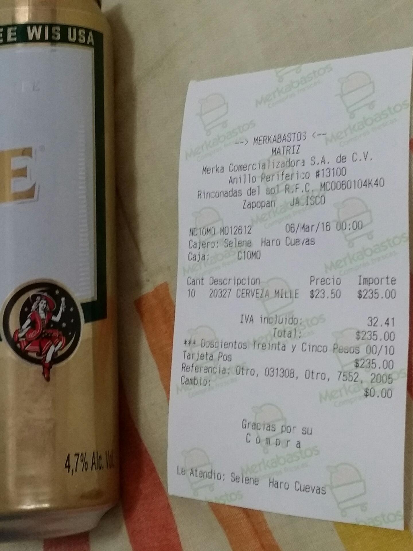 Merkabastos: Caguamas Miller a $23.50