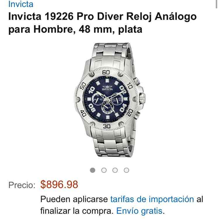 Amazon mx:  Invicta 19226 Pro Diver Reloj Análogo para Hombre, 48 mm, plata 897.