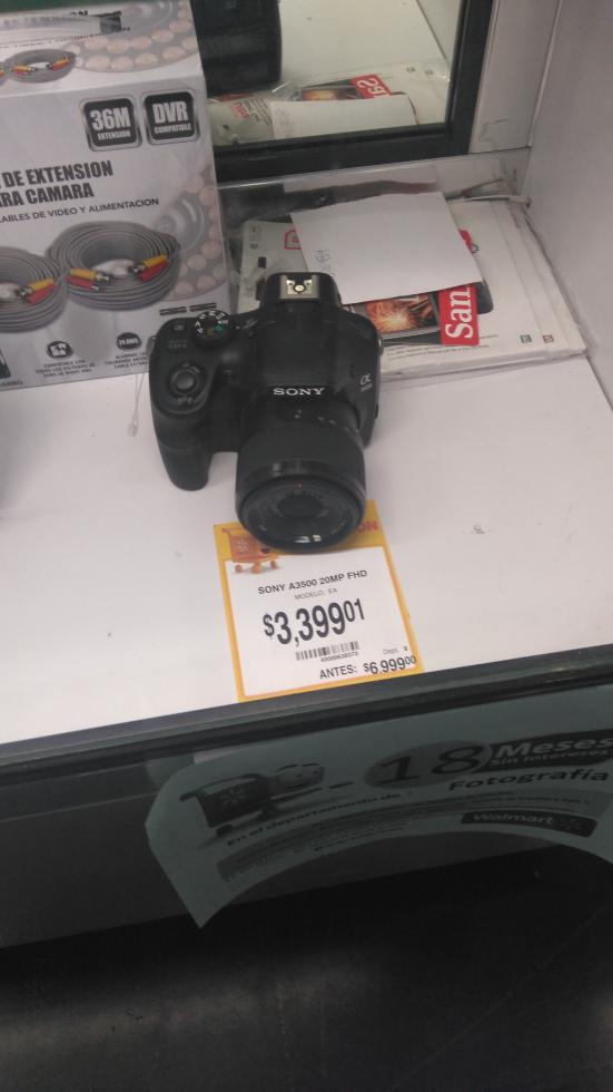 Walmart: cámara Sony a3500 a $3,399.01