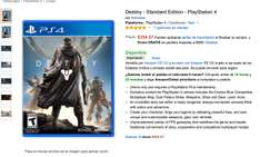 AMAZON MX: Destiny standard edition a $354 para playstation 4