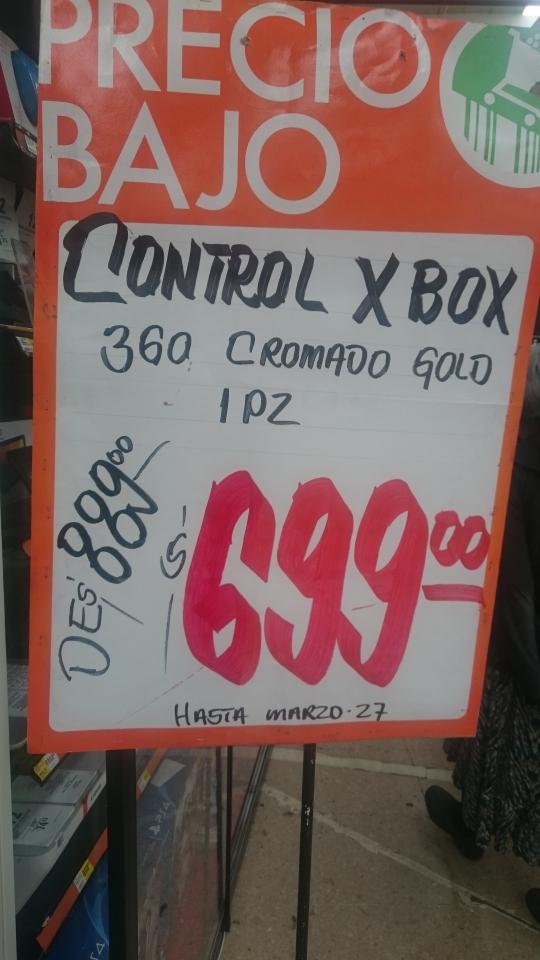Comercial Mexicana Lomas Estrella: Control Dorado Xbox 360 Chrome series a $ 699