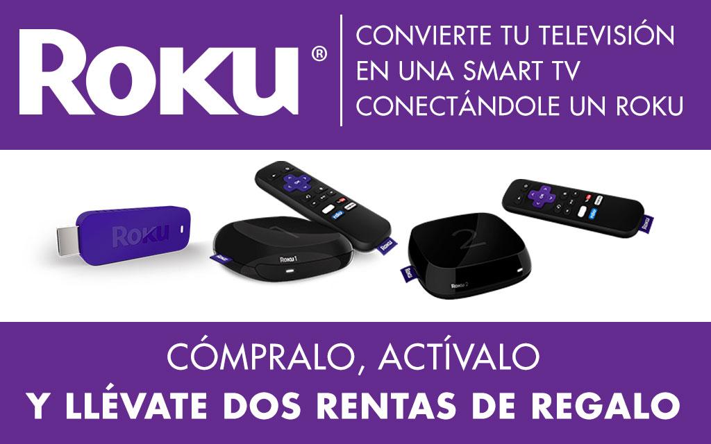 2 rentas gratis en Cinépolis Klic comprando Roku