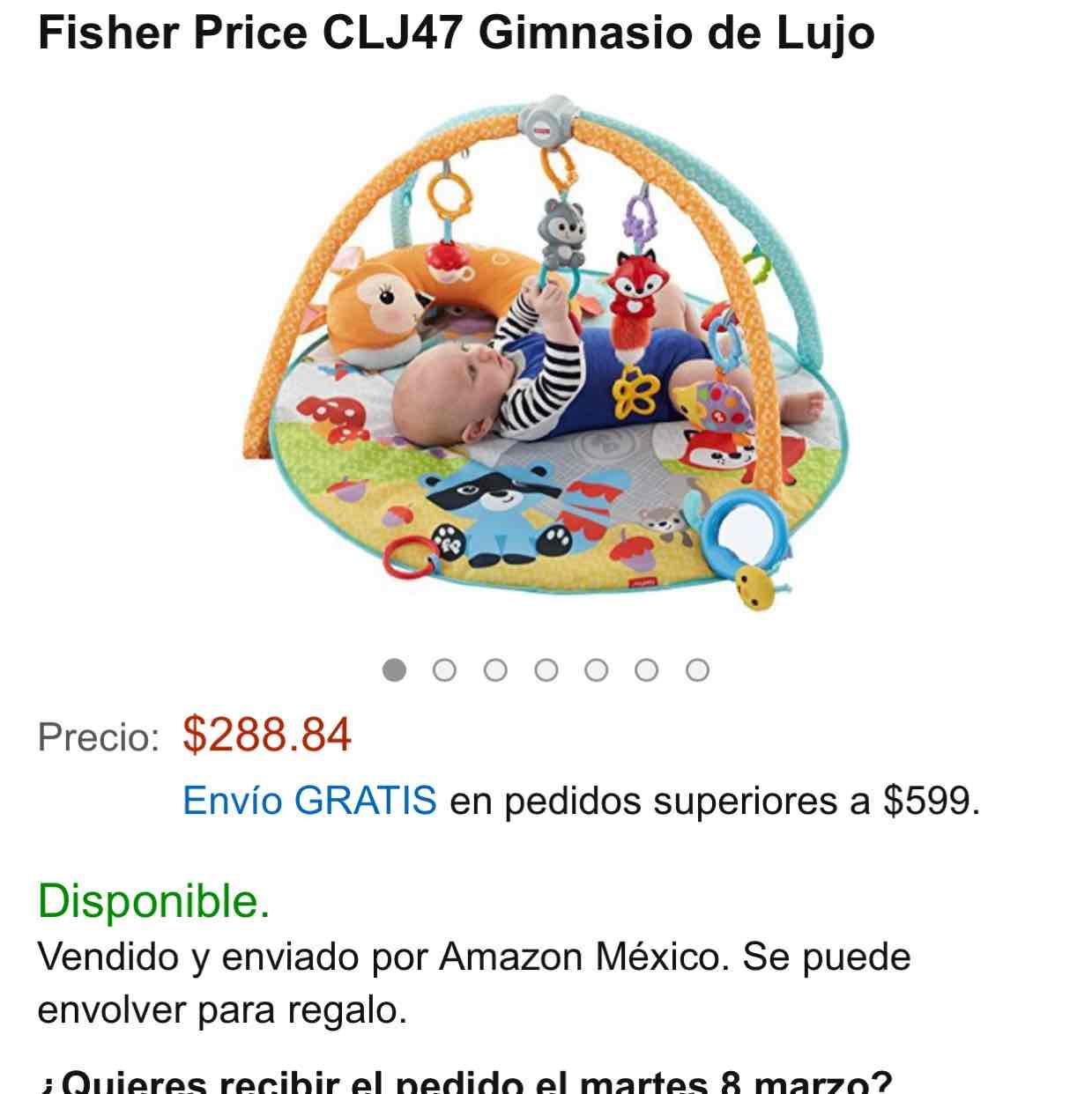 Amazon: gimnasio de lujo Fisher Price CLJ47 a $289 (normal a $1,599)