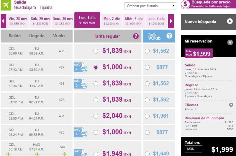 Volaris: nacionales desde $999 y a USA desde $129 dólares en diciembre y enero
