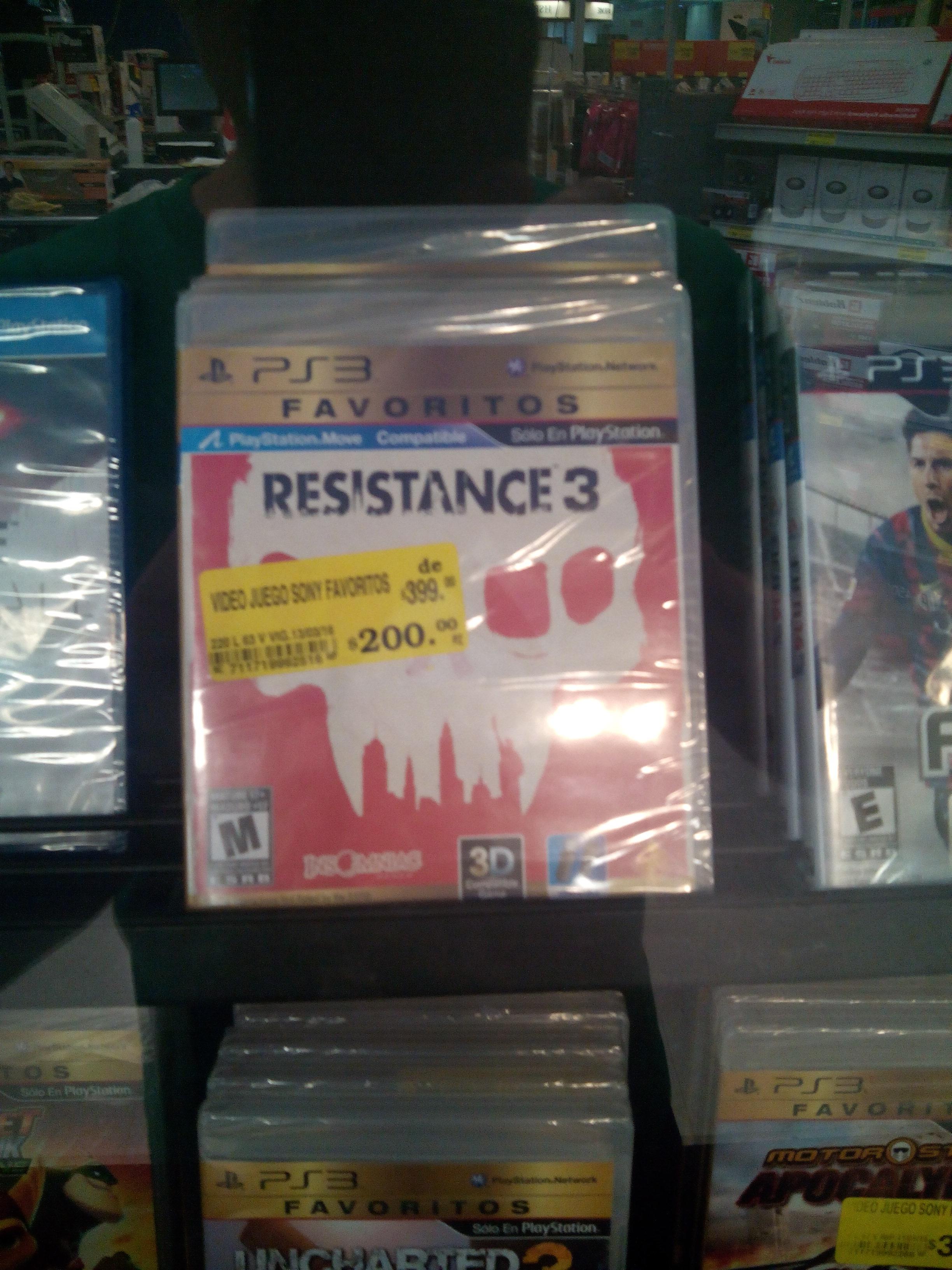 Soriana Sendero Querétaro: Resistance 3 Playstation 3 a $200