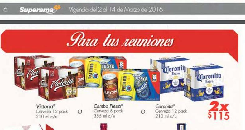 Superama: Para la banda Chelera, 24 ampolletas o 16 latas (355 ml) por $115