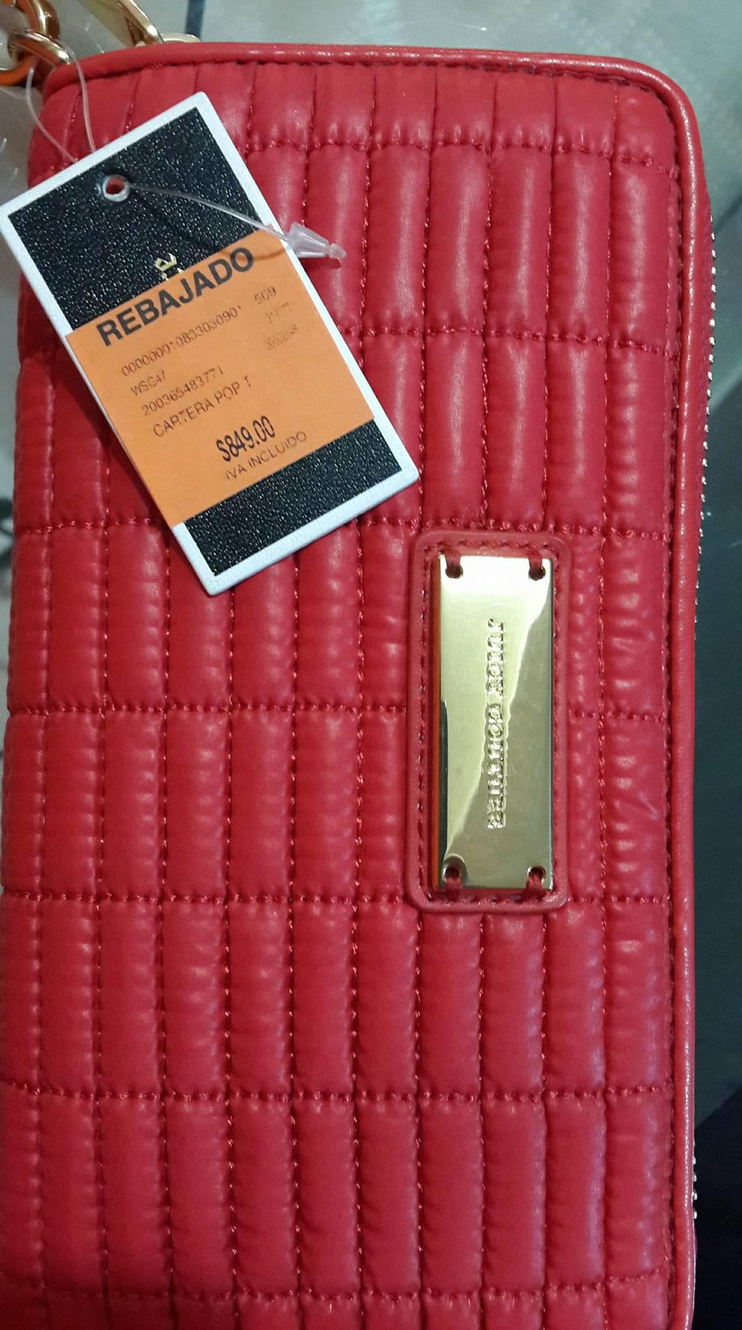 Palacio de Hierro Puebla: carteras Juice Couture de $2290 a $849 y 13 meses sin interes con tarjeta Palacio (Días martes)