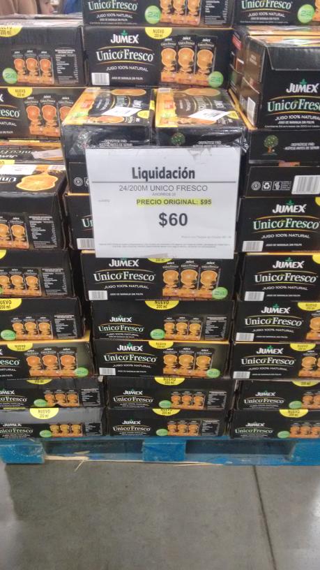 Sam's Club: paquete de jugos unico fresco de Jumex de $95 a $60 pesos