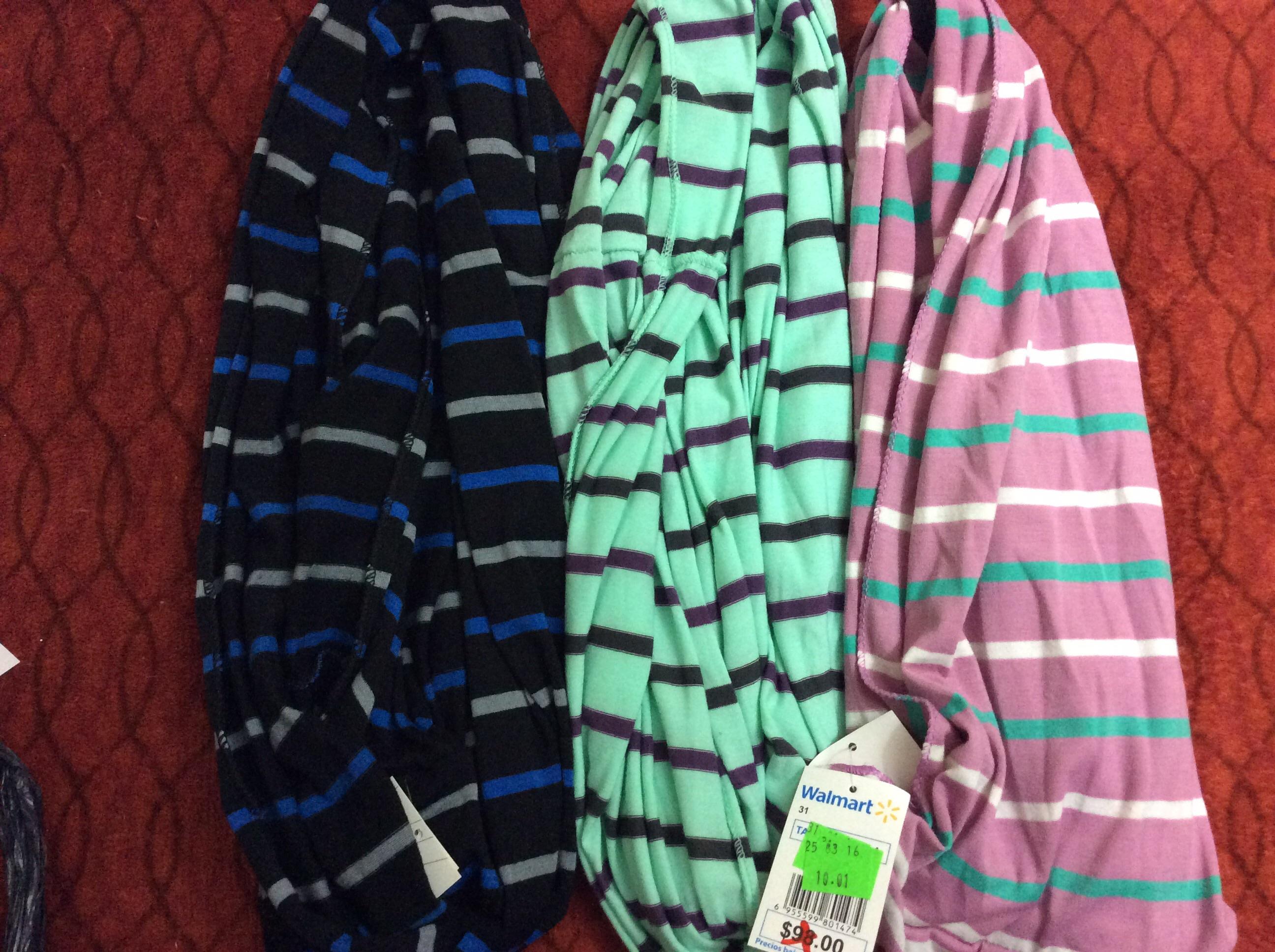 Walmart Tonalá Jalisco: bufandas circulares a $10.01