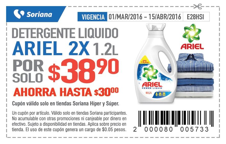 Soriana: Detergentes y otros descuentos con soriticket