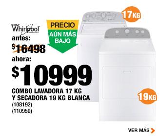 Home Depot: promoción en combo lavadora y secadora Whirpool de $16,498 a $10,999
