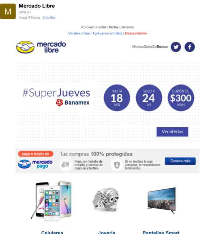 Mercado Libre: 18 MSI y cupón de $300 con Banamex