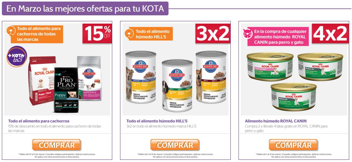 +KOTA en línea: ofertas de marzo 2016