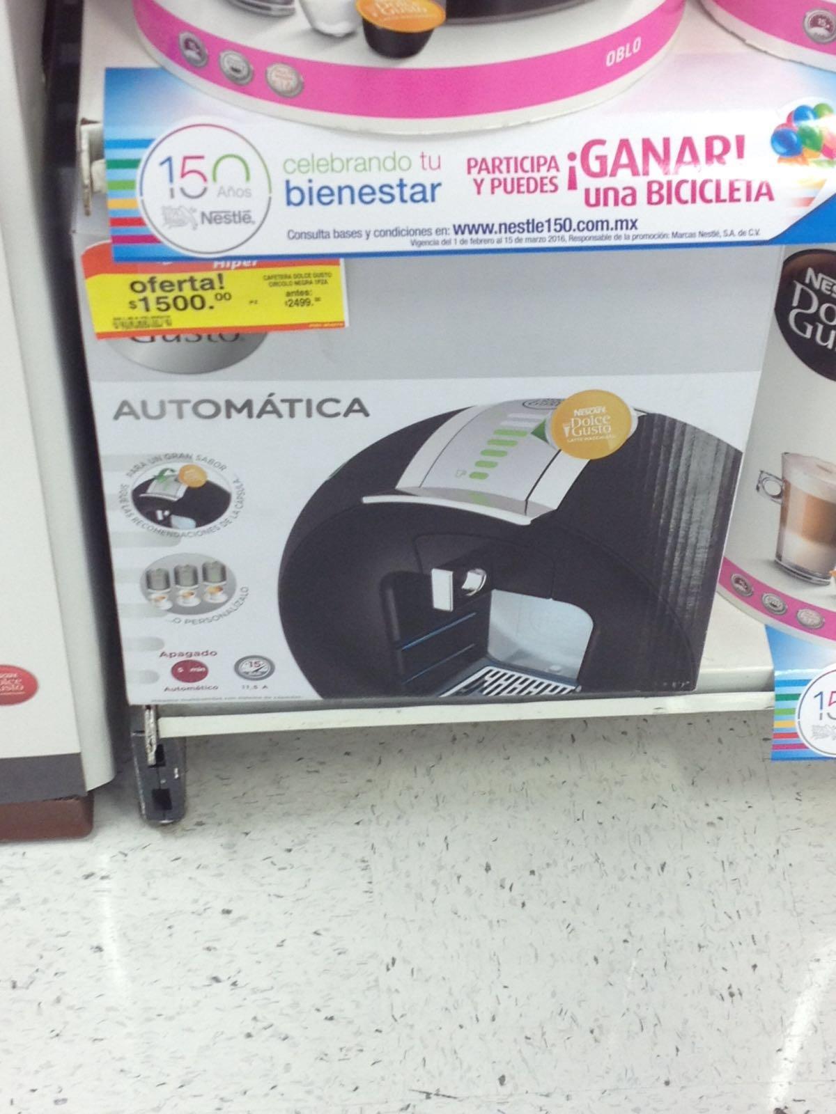 Soriana Hiper: Cafetera Dolce Gusto Circolo Titanio a $1,500