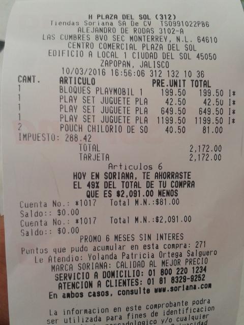 Soriana plaza del sol: Playmobil con 50% de descuento