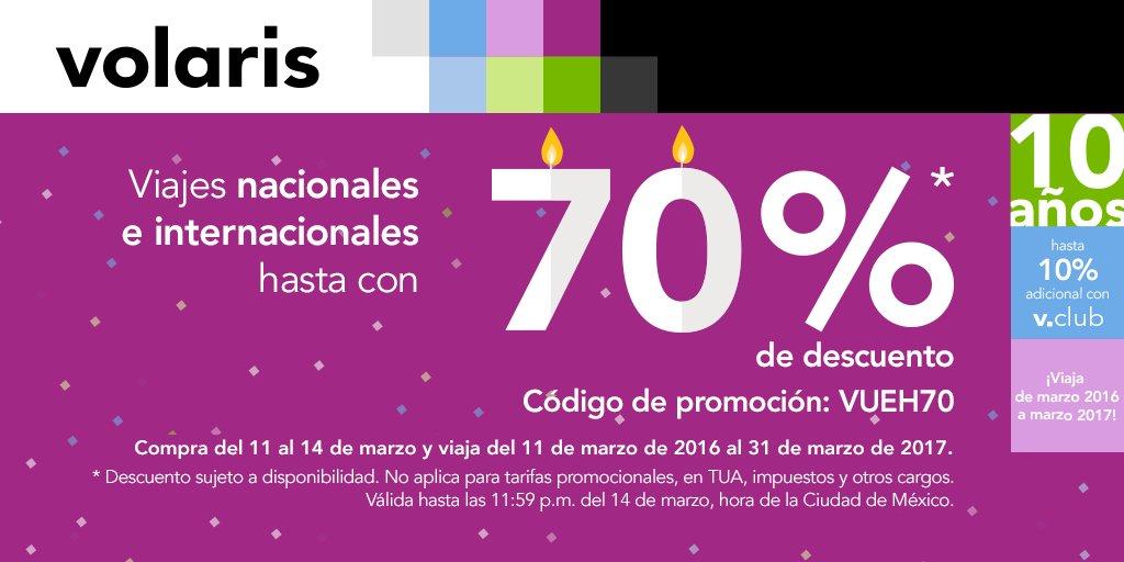Aniversario Volaris: hasta 70% descuento en viajes Nacional e Internacionales + 10% con Vclub hasta 18 MSI