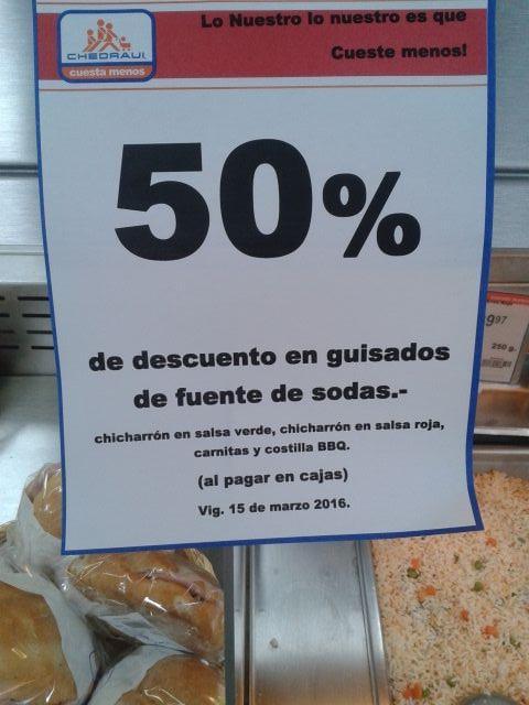 Chedraui: 50% de descuento en alimentos costilla preparada