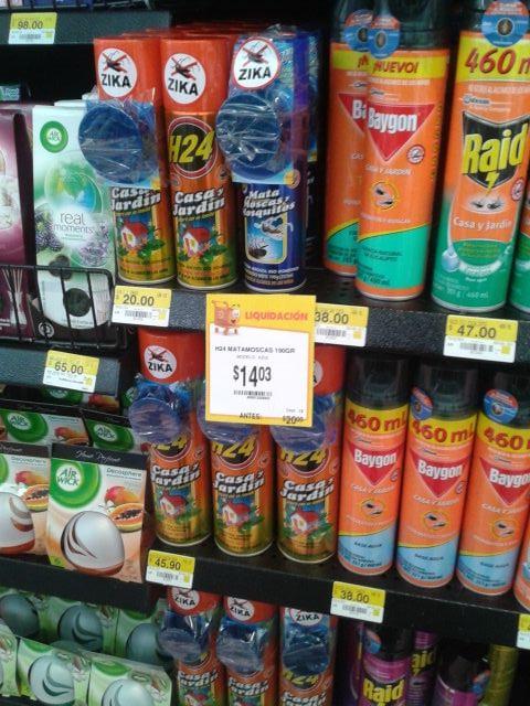 Walmart: insecticida H24 contra zika mosca y mosquito de $20 a $14.03