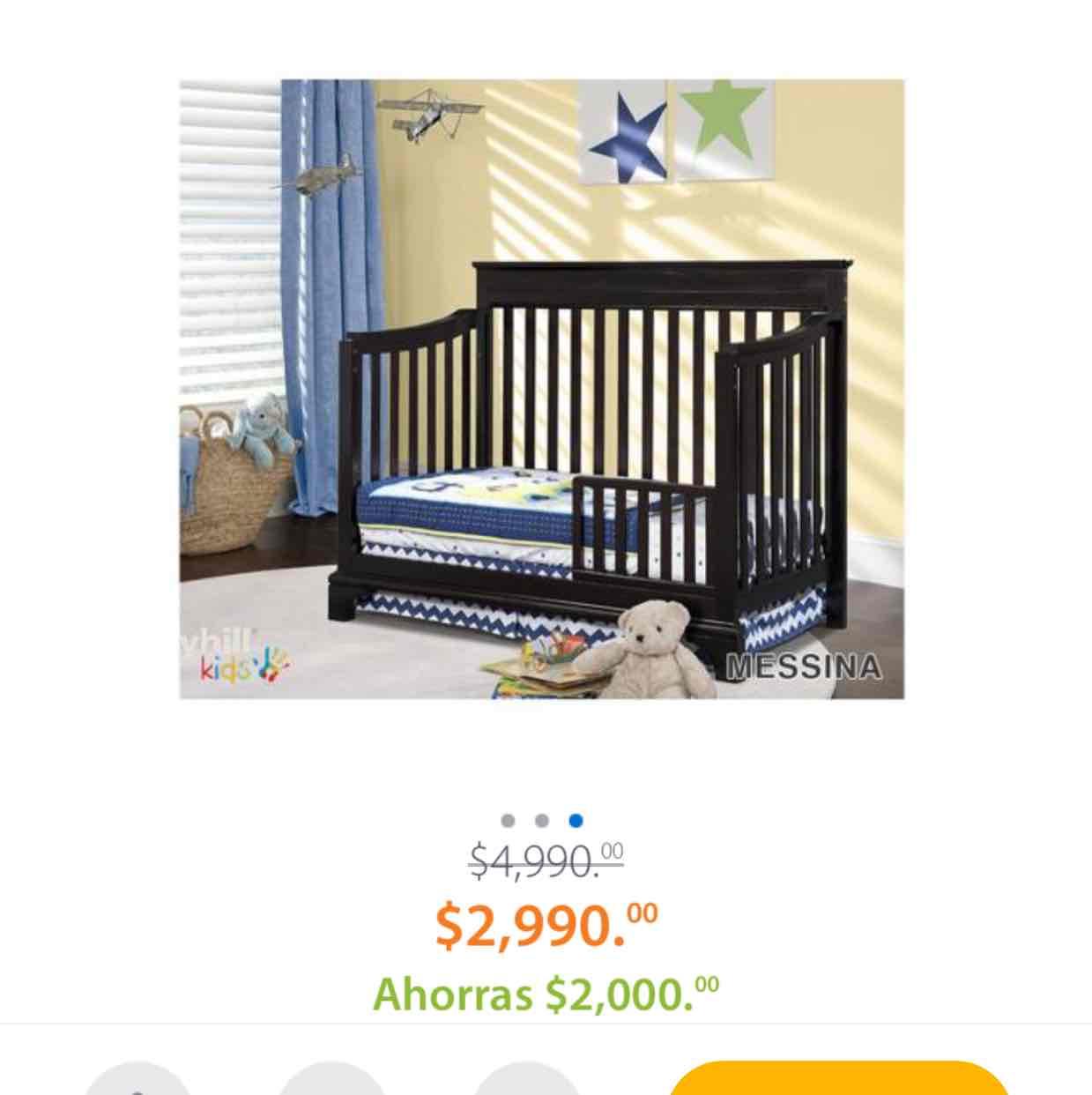 Walmart: Cuna Convertible Storkcraft Broyhill Kids Mesina Espresso $2,990