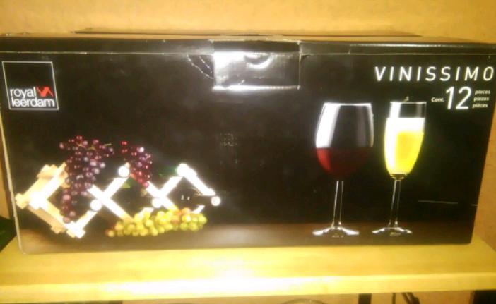 Walmart: juego de 12 copas Vinissimo a $34