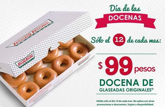 Krispy Kreme: docena de glaseadas originales a $99, sábado 12 de marzo del 2016