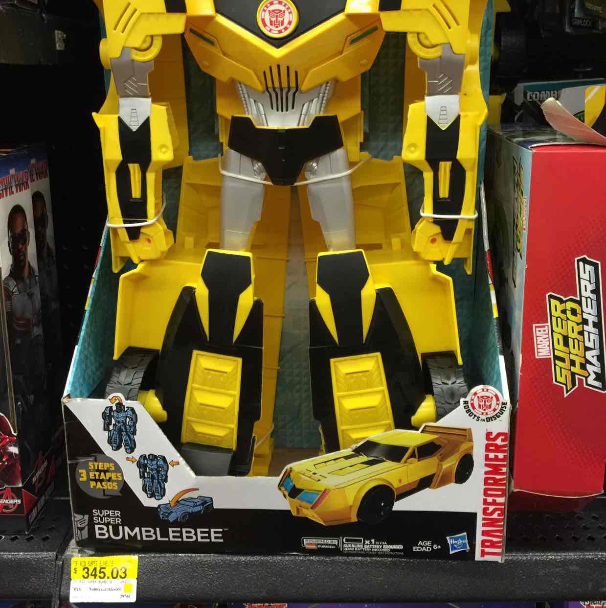 Walmart: bublebee transformes gigante a $345.03