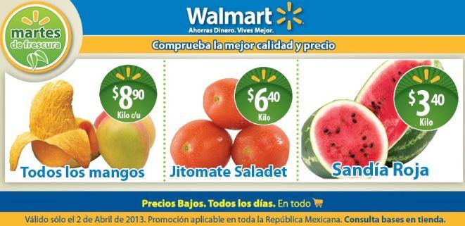 Martes de frescura en Walmart abril 2: sandía $3.40 y más