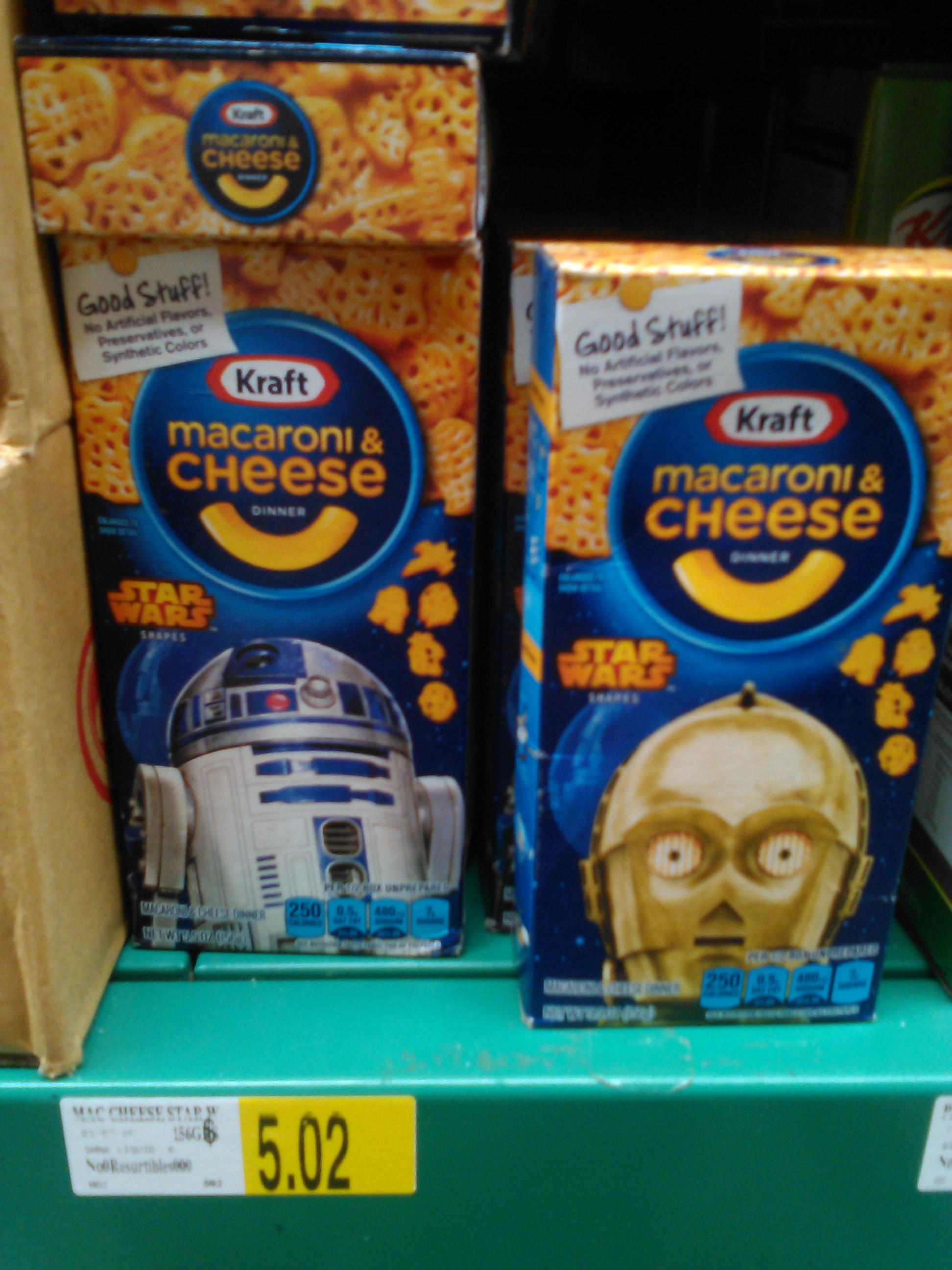 Bodega Aurrerá: pasta con queso instantánea Star Wars a $5.02