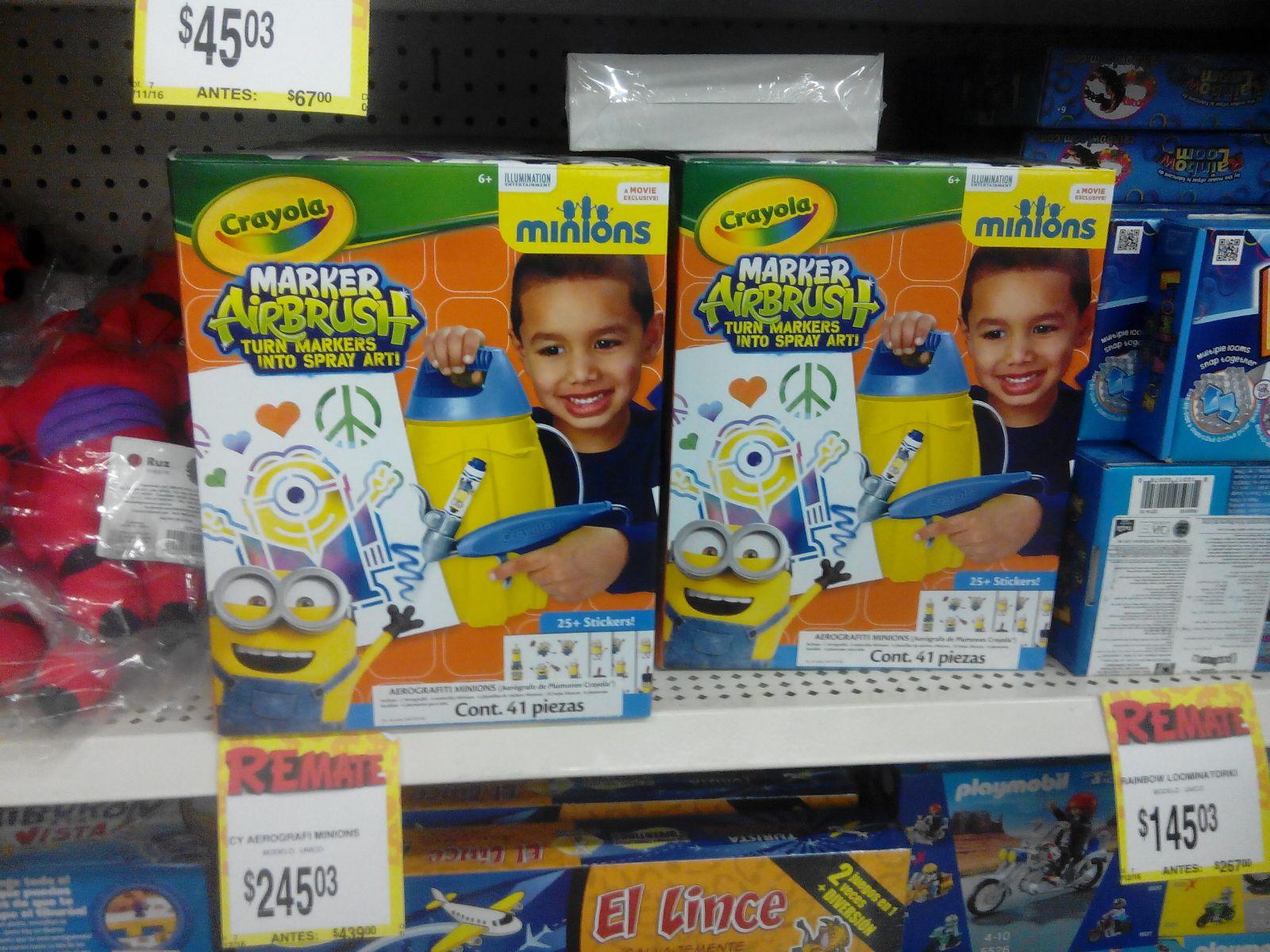 Bodega Aurrerá: Crayola Minions Marker Airbrush a $245.03