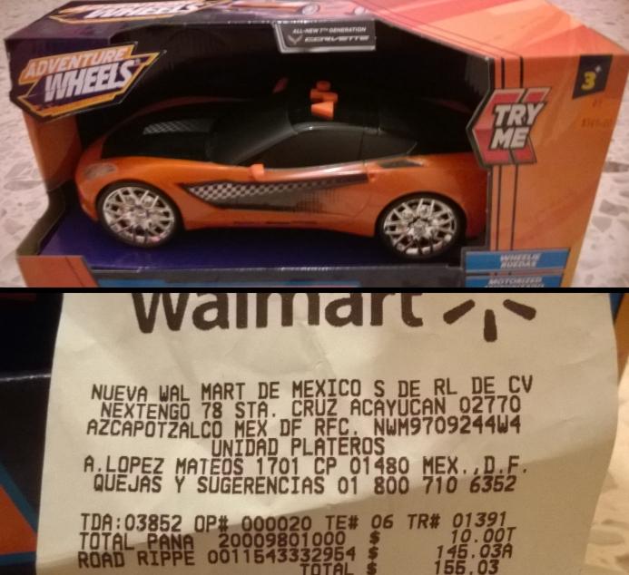 Walmart: Adventure Wheels 1:18 Luces y sonido de $399 a $145