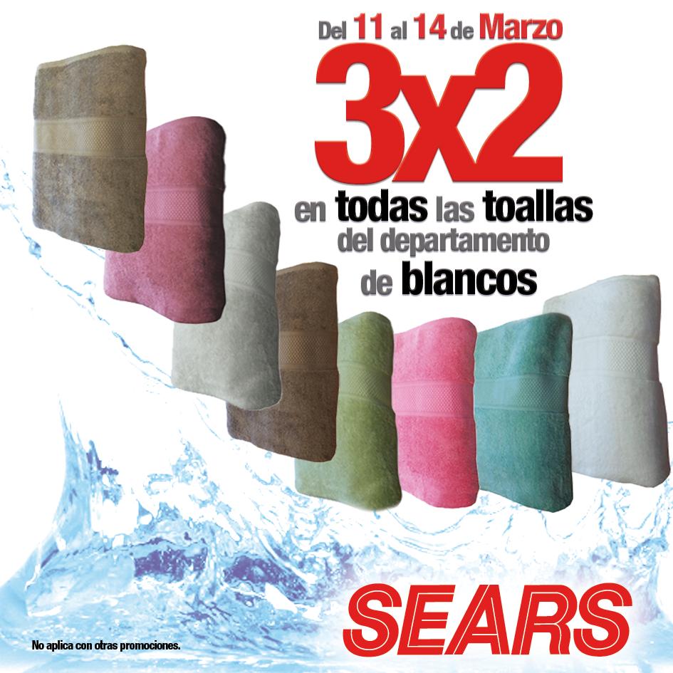 Sears: 3x2 en todas las toallas y en trajes de baño de mujer