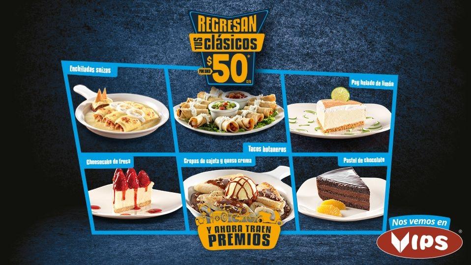 Regresan tus clásicos en Vips: Enchiladas Suizas y más a $50