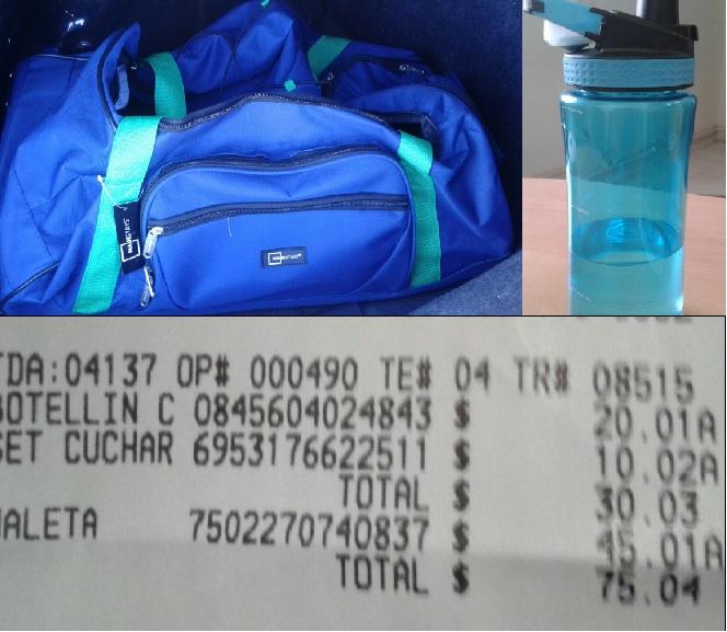Walmart Chapultepec Mty: Maleta Mainstays de 25Kg a $45.01