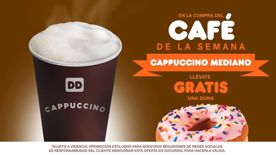 Dunkin Donuts: dona gratis comprando cappuccino