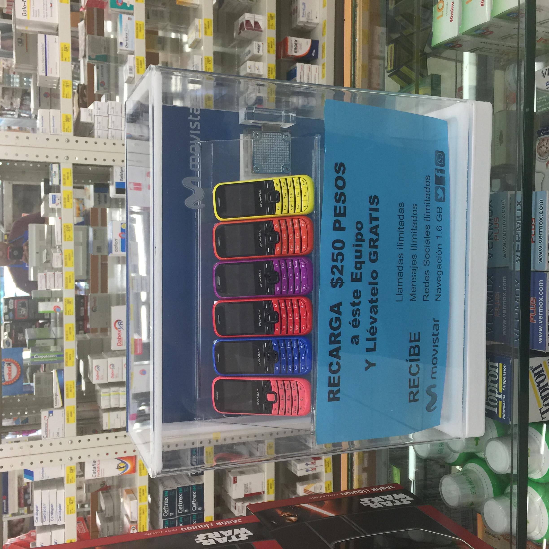 Farmacias Guadalajara: celular al recargar $250 con movistar