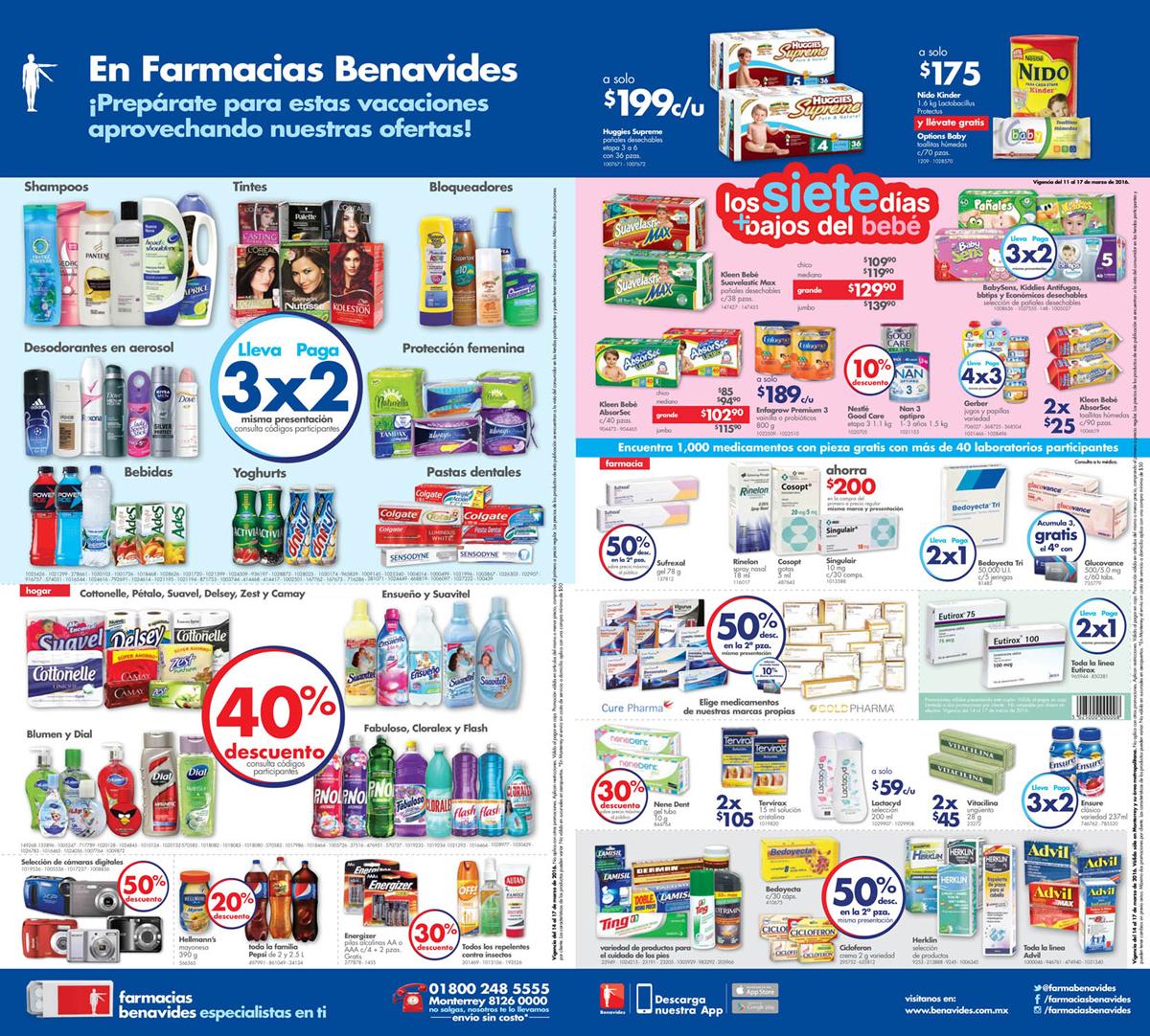 Farmacias Benavides: 3x2 en bloqueadores, tintes, shampoos, bebidas seleccionadas y más