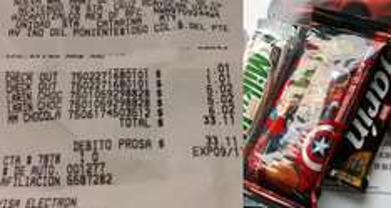 Walmart La Huasteca NL: Tin Larin a $5.02, Milkyway a $6.02, Marvel Malvaviscos Chocolate a $1.01