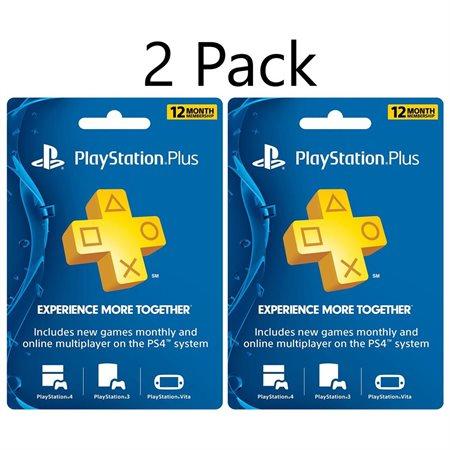 Rakuten: 2 tarjetas de 1 año de PlayStation Plus 75 dólares con MasterPass