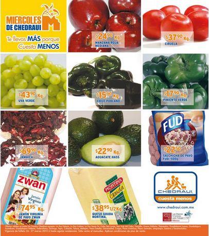 Miércoles de frutas y verduras Chedraui marzo 27: tomate $5.80 y más