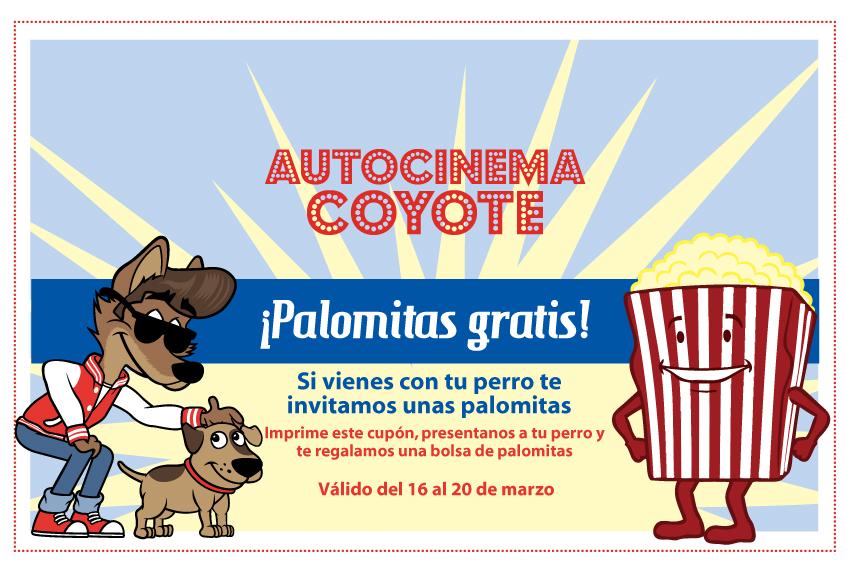 Autocinema Coyote: ¡Palomitas gratis con tu perro!