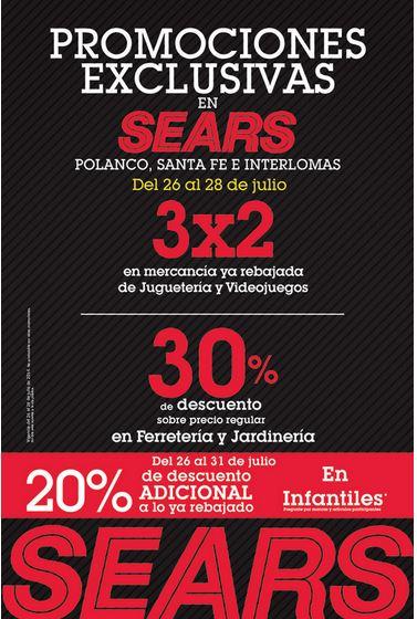 Sears: 3x2 en videojuegos y juguetes rebajados (Polanco, Santa Fe e Interlomas)