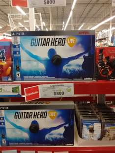 Sam's Club: Guitar Hero Live para PS3 a $800