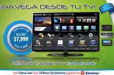 "Famsa: LED Smart TV Samsung 40"" $7,999 y 18 meses sin intereses"