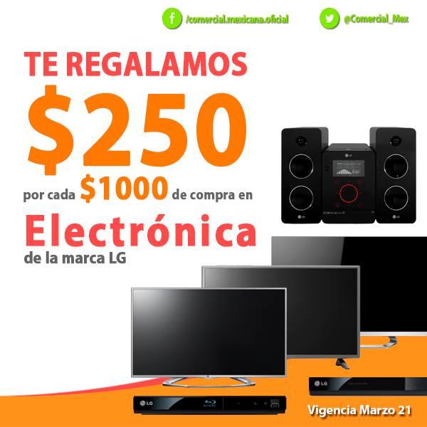 Comercial Mexicana: $250 de descuento por cada $1,000 en electrónica LG y más