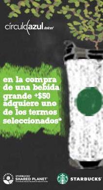 Starbucks: termo a $50 comprando bebida (clientes Telcel)