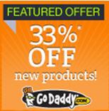 GoDaddy: 33% de descuento en todo (productos nuevos) o $3.99 por dominio privado